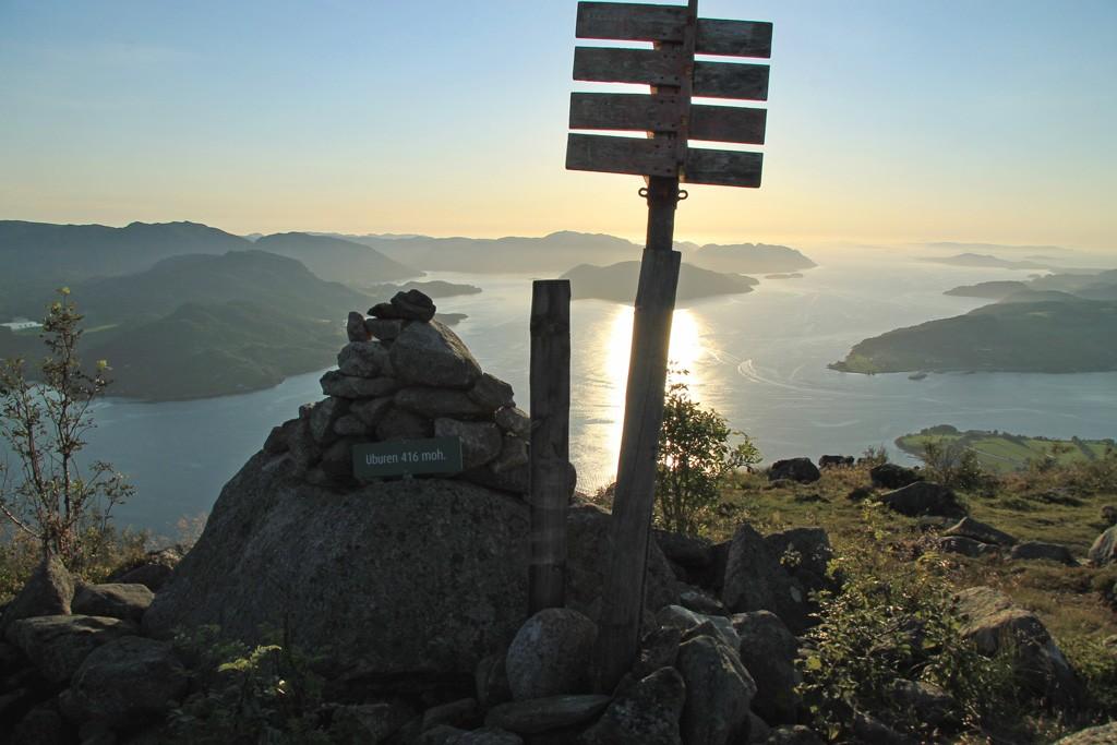 Hike Uburen zonsondergang