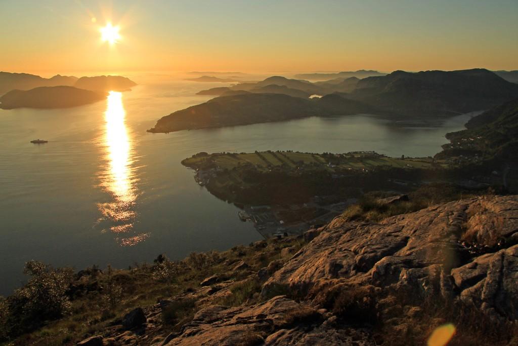 Uburen uitzicht Ryfylke zonsondergang