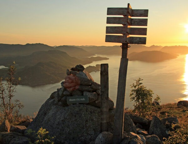 Uburen uitzicht zonsondergang