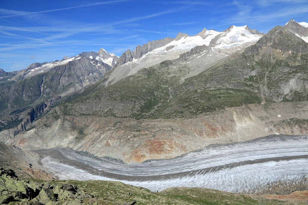 Gletscherblick Aletschgletsjer