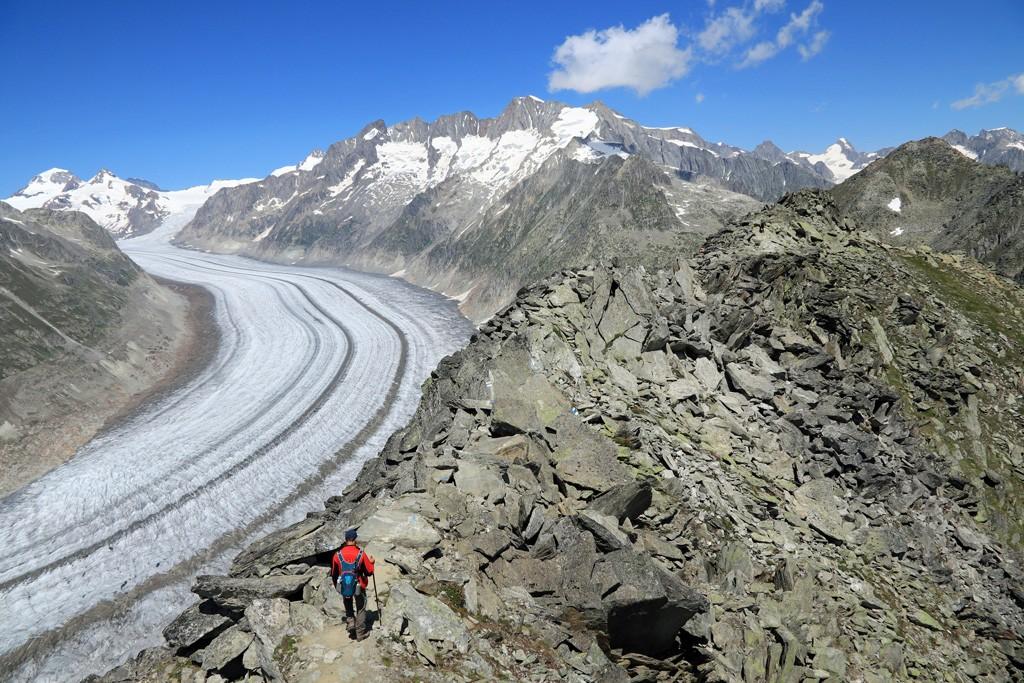 Unesco Höhenweg Aletschgletsjer