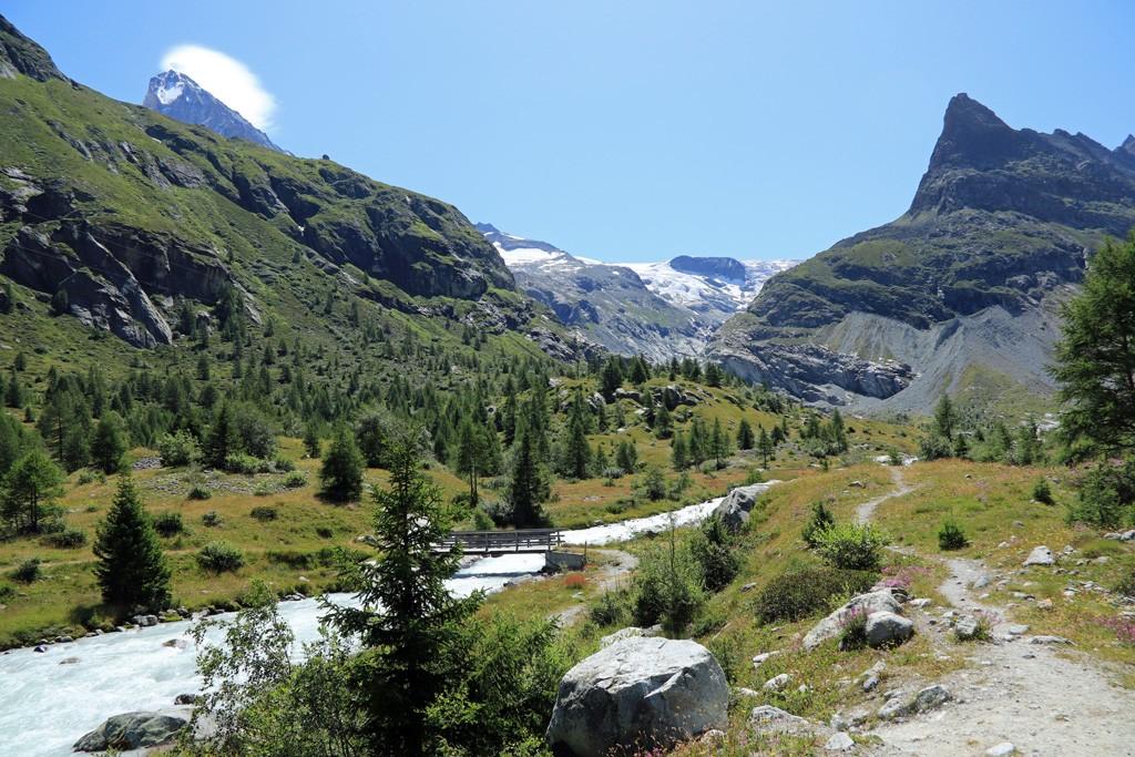 Ferpècle gletsjer Borgne rivier
