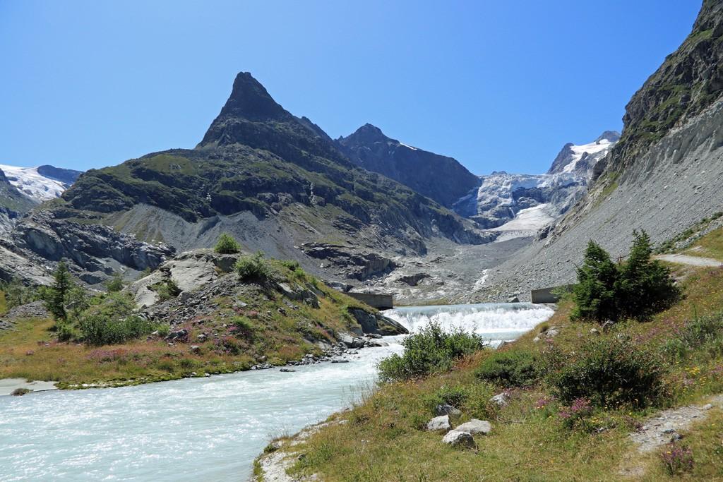 Ferpècle en Mont-Miné gletsjer