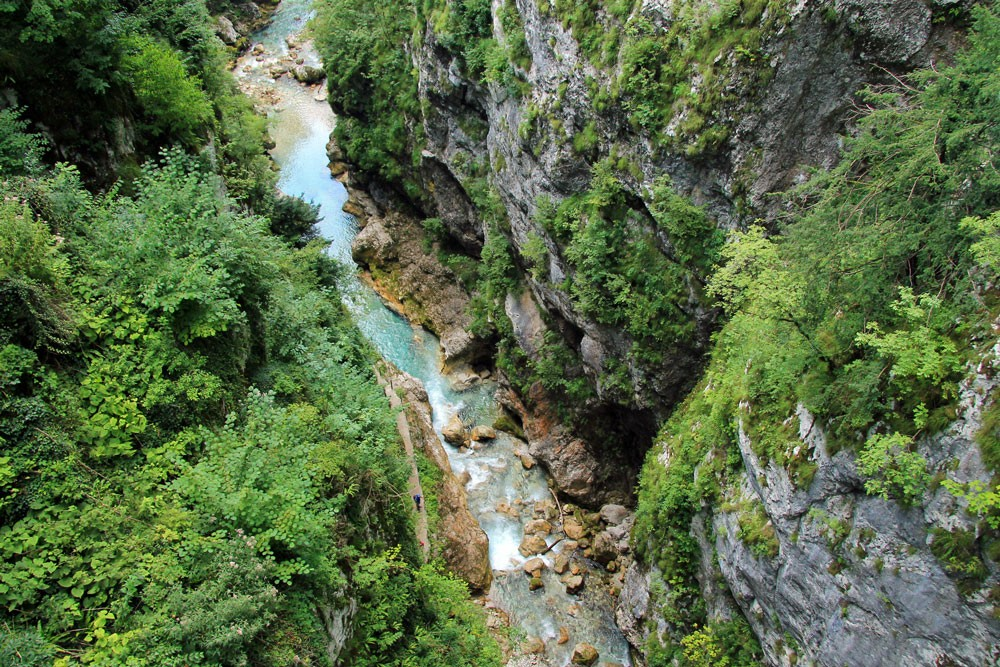 Tolminkloof uitzicht Duivelsbrug