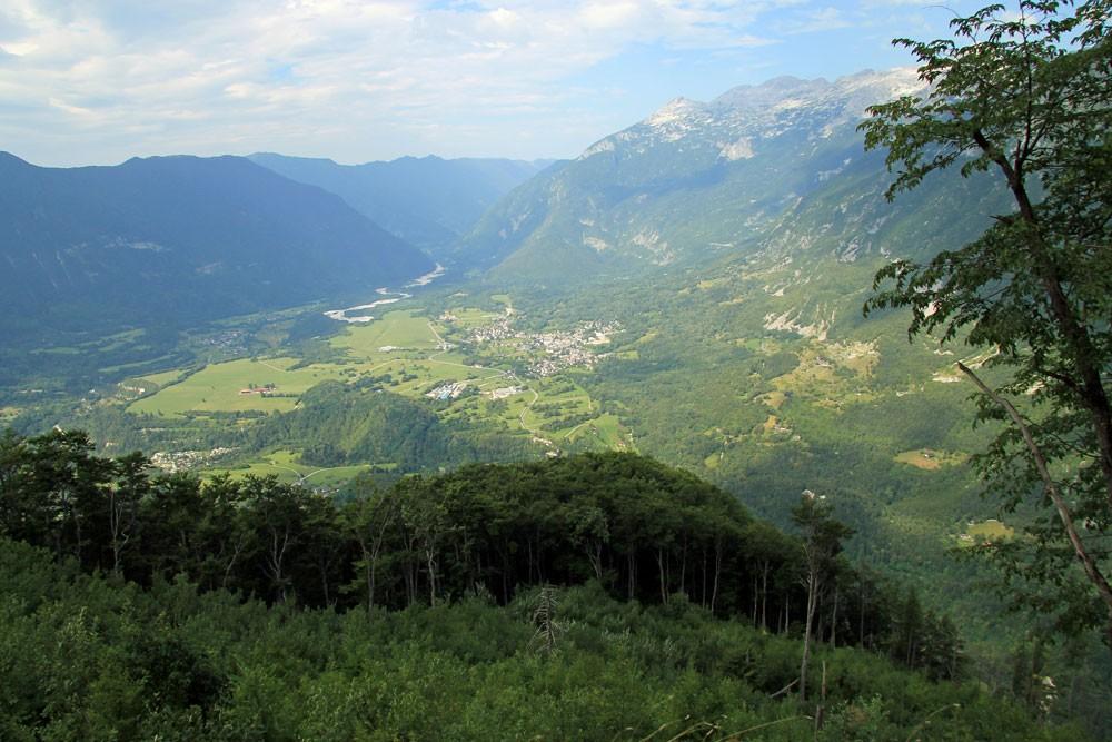 Svinjak uitzicht Bovec