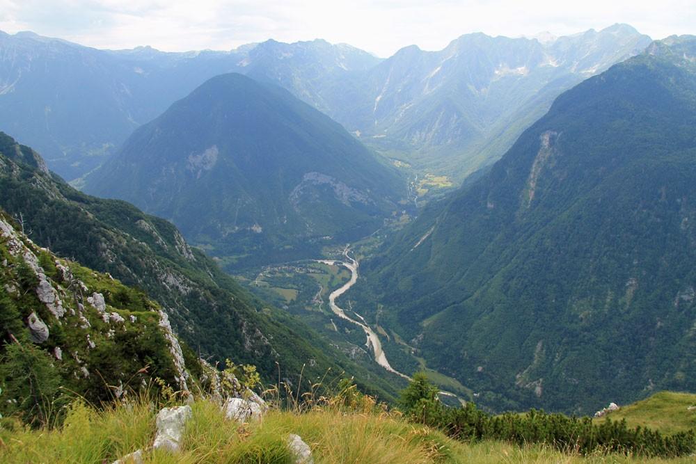 Svinjak uitzicht Soca-vallei