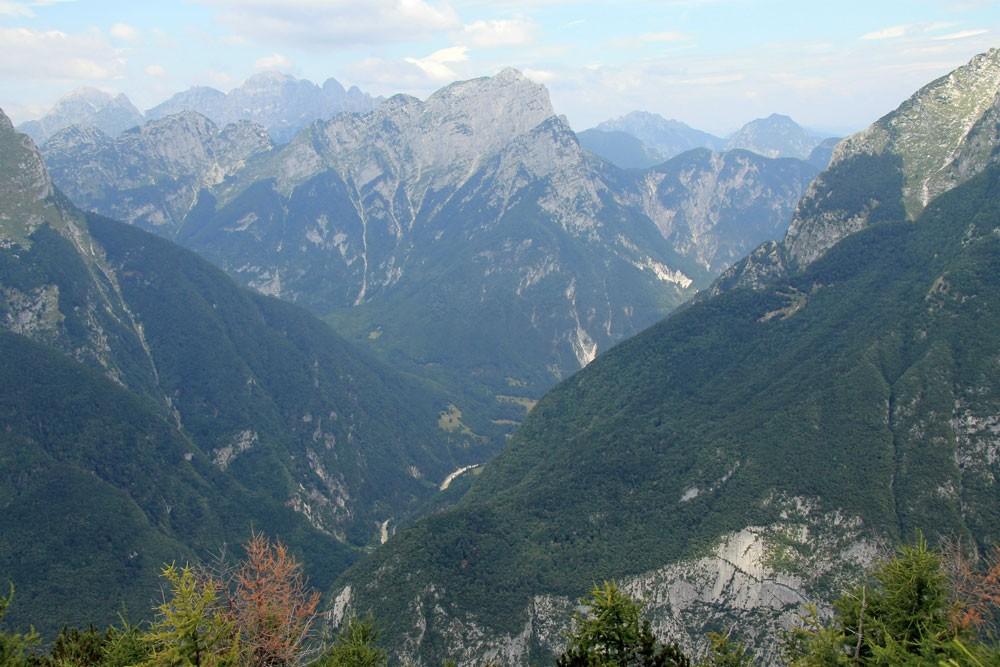 Svinjak uitzicht Julische Alpen