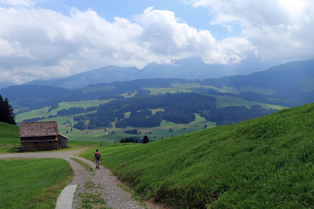 Uitzicht op Alpstein
