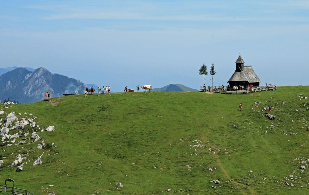 Velika Planina Snow Mary Chapel