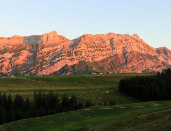 Uitzicht op Alpsteingebergte en Säntis